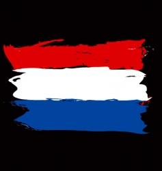 Netherlands grunge flag vector image vector image