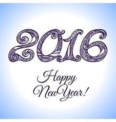 New year 2016 typography vector