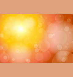 orange bokeh abstract background vector image