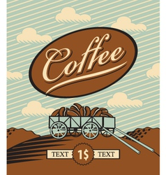 retro coffee vector image vector image