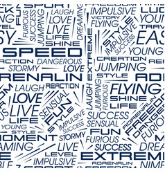 seamless pattern of words vector image vector image