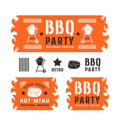 Set of barbecue labels and banners vector