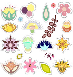 set of decorative elements separated vector image vector image