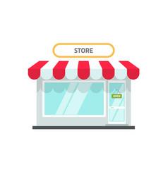store or shop facade flat vector image vector image