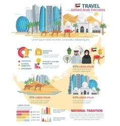United arab emirates travel infographic vector