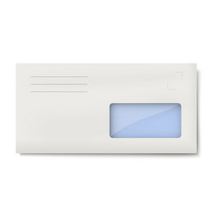 White dl envelope with window for address vector