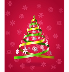 Stylized christmas tree from ribbons vector