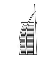 Hotel burj al arab united arab emirates icon vector
