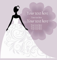 Bride in a white wedding dress vector