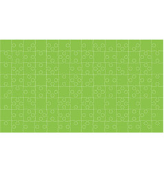 Green puzzles pieces jigsaw - background vector