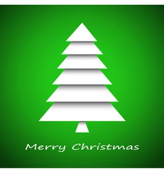 Simple paper christmas tree vector image