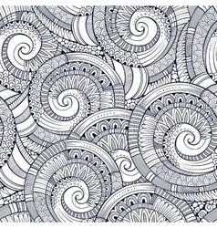 spiral decorative doodles pattern vector image