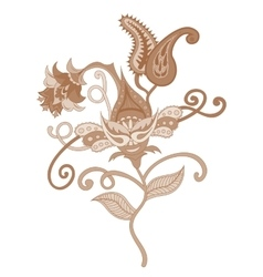 Paisley indian ornament vector