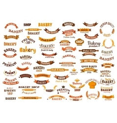Bakery and pastry shop design elements vector