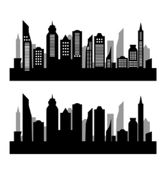 City silhouette on white background vector