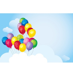 Bright colorful balloons vector