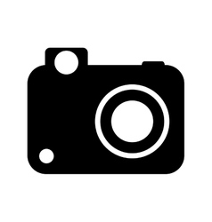Camera  over white background vector