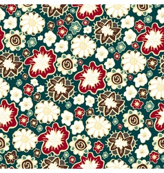 Hand drawn floral seamless patterns ornaments in vector
