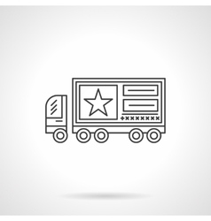 Advertising on vehicles flat line icon vector