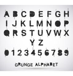 Alphabet grunge font vector