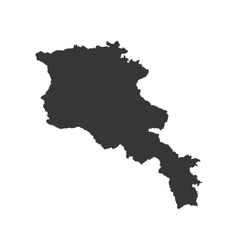 Armenia map silhouette vector image vector image