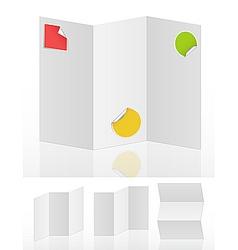 blank menus vector image vector image