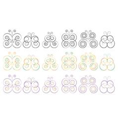 butterflies vector image vector image