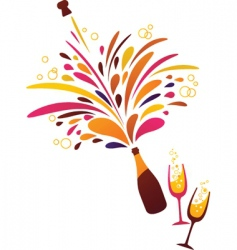 Champagne bubbles vector
