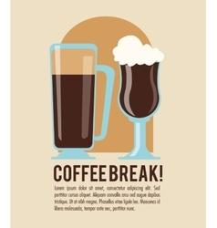 Coffee break shop icon graphic vector
