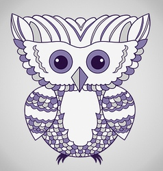 Cute Purple Abstract Owl vector image