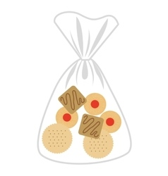 Delicious cookies bag isolated icon design vector