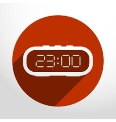 Electronic clock web icon vector