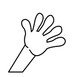 Kid hand showing a five count image vector