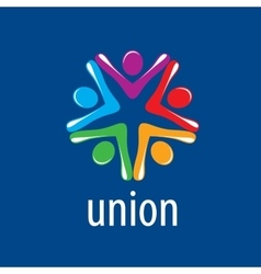 Logo union people vector