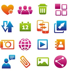 Madiaicons vector image vector image