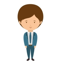 Man dressed formal style with tie vector
