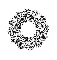 mandala round ornament vintage decorative vector image