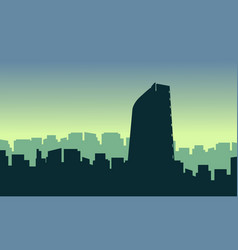 mexico city scenery vector image vector image
