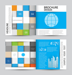 Modern abstract brochure vector