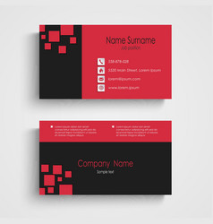 Modern sample business card template vector image vector image