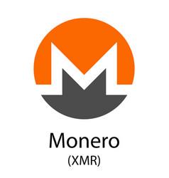 Monero cryptocurrency symbol vector