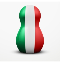 Russian tradition matrioshka dolls in italy flag vector
