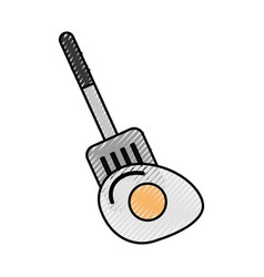 Spatule with fried egg vector