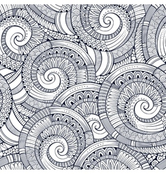 spiral decorative doodles pattern vector image