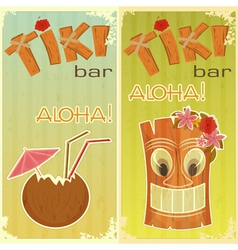 Tiki bars hawaiian vector