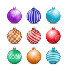 Toys and decorations for the christmas tree vector