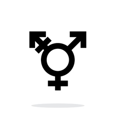 Transgender icon on white background vector