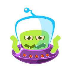 Wrathful emotional allien cute cartoon monster vector