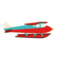 Hydroplane seaplane fly water vector