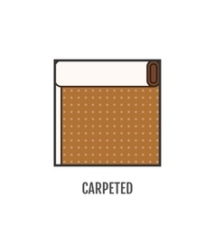 Flat icon of carpeted finishing materials floor vector